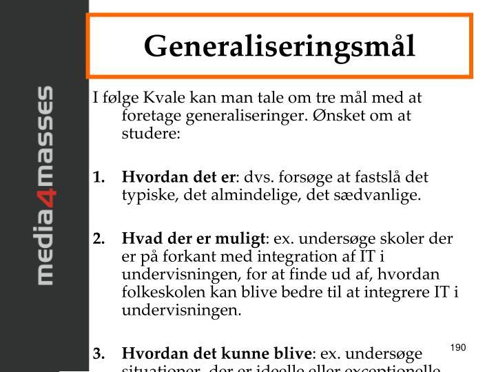 Generaliseringsmål