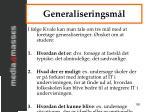 generaliseringsm l