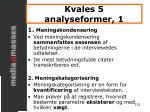 kvales 5 analyseformer 1