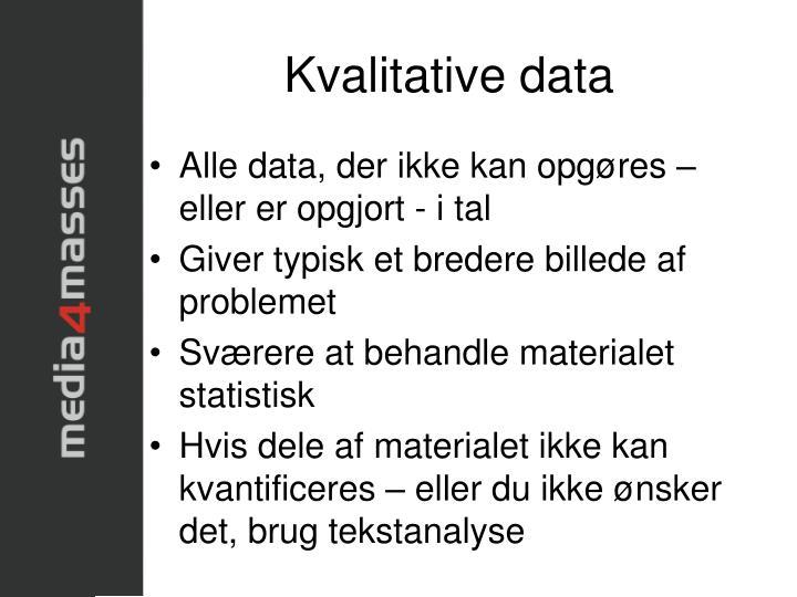 Kvalitative data