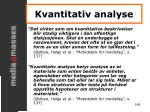kvantitativ analyse1