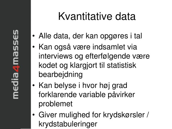 Kvantitative data