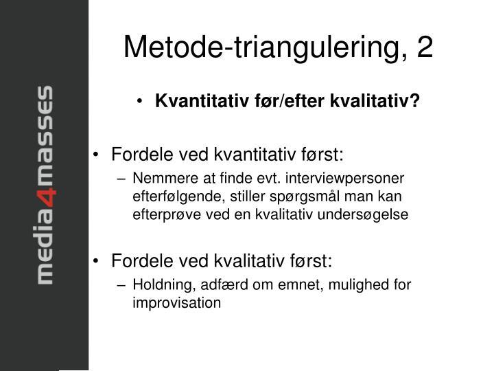 Metode-triangulering, 2