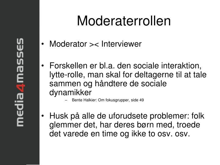 Moderaterrollen