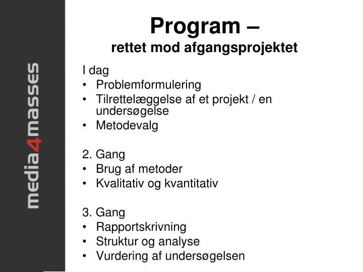 Program –