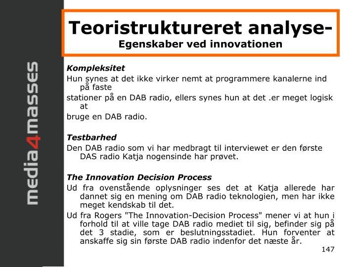 Teoristruktureret analyse-