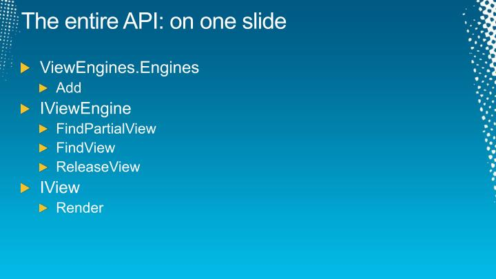 The entire API: on one slide