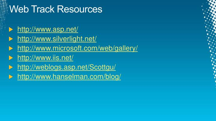 Web Track Resources