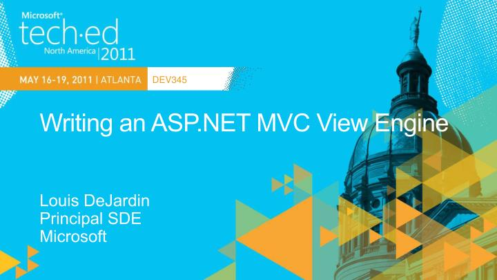 Writing an asp net mvc view engine
