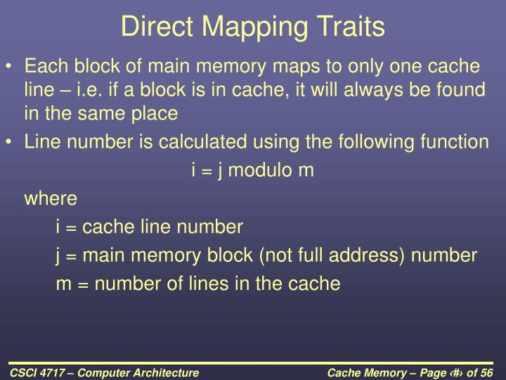 Direct Mapping Traits