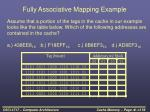 fully associative mapping example