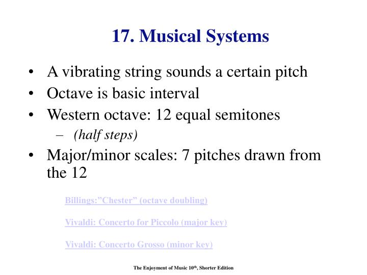 17. Musical Systems