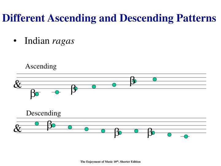 Different Ascending and Descending Patterns