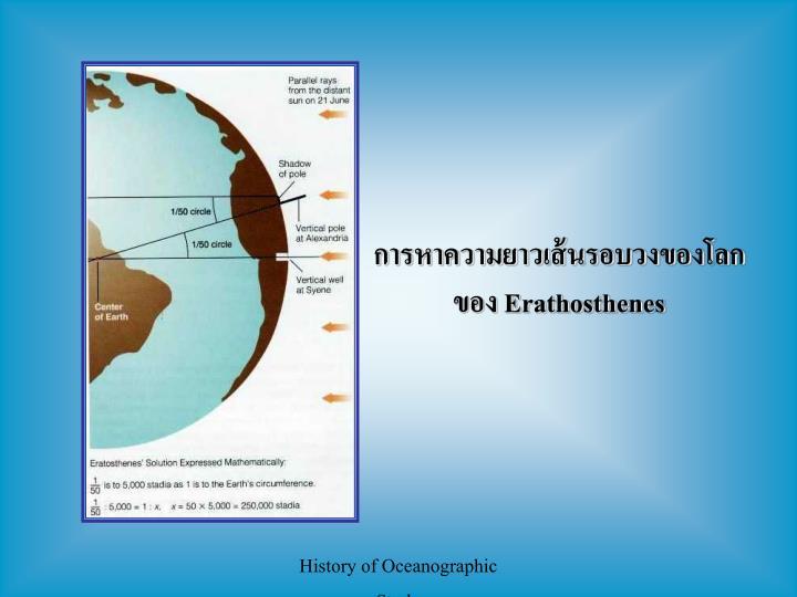 การหาความยาวเส้นรอบวงของโลก