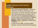 english literature and colonial education