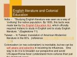 english literature and colonial education1