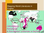 mapping world literatures in english