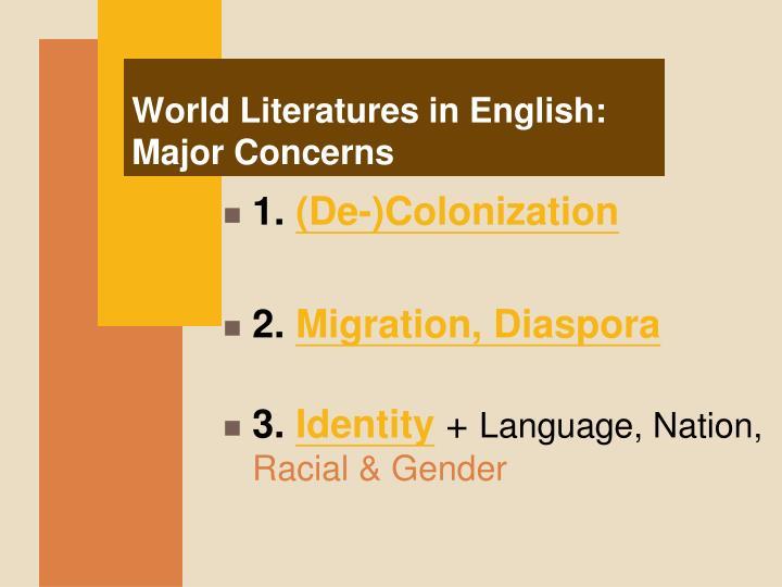 World Literatures in English: