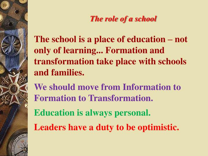 The role of a school
