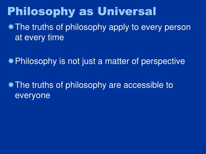 Philosophy as Universal