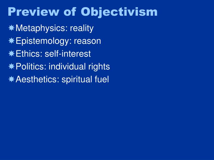 Preview of Objectivism