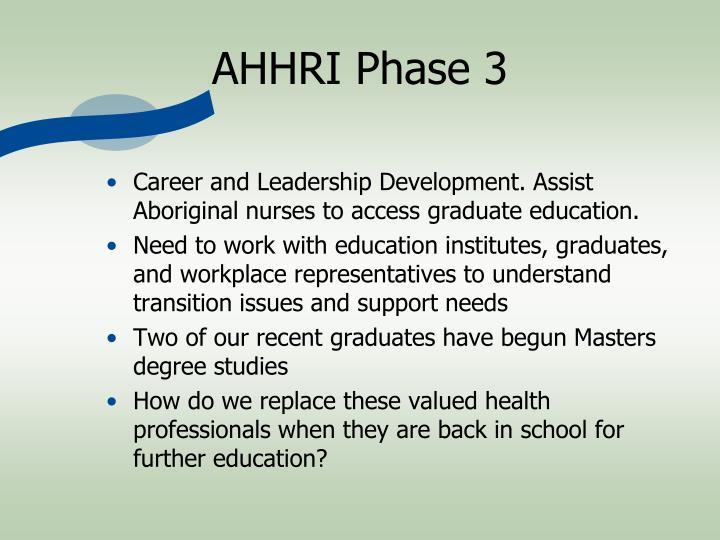 AHHRI Phase 3