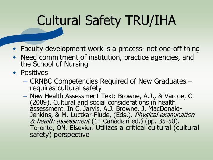 Cultural Safety TRU/IHA