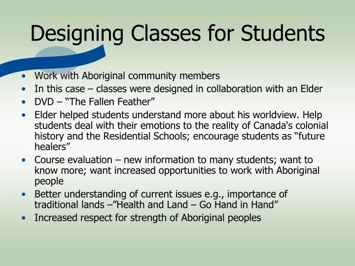 Designing Classes for Students