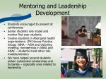 mentoring and leadership development