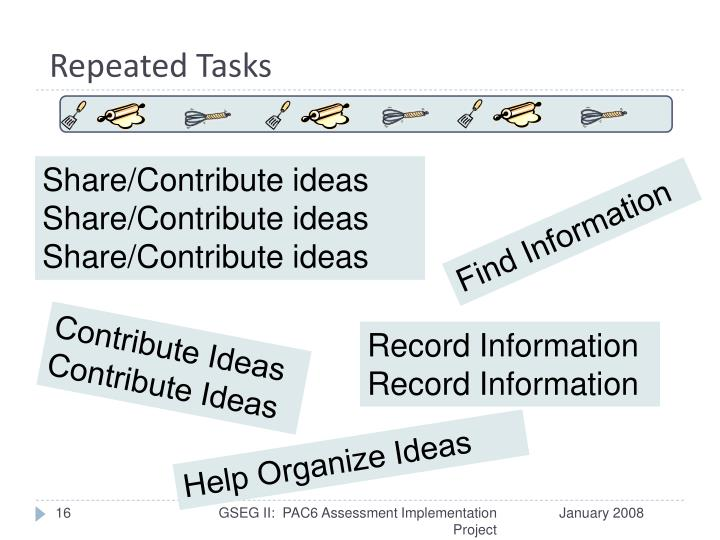 Repeated Tasks