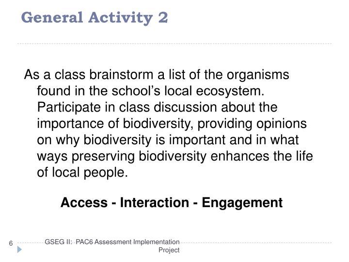 General Activity 2