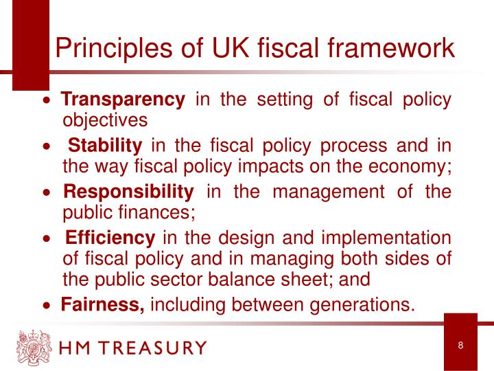 Principles of UK fiscal framework