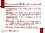 principles of uk fiscal framework