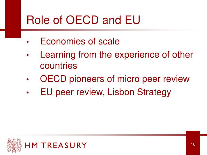 Role of OECD and EU