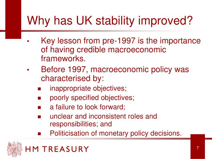 Why has UK stability improved?