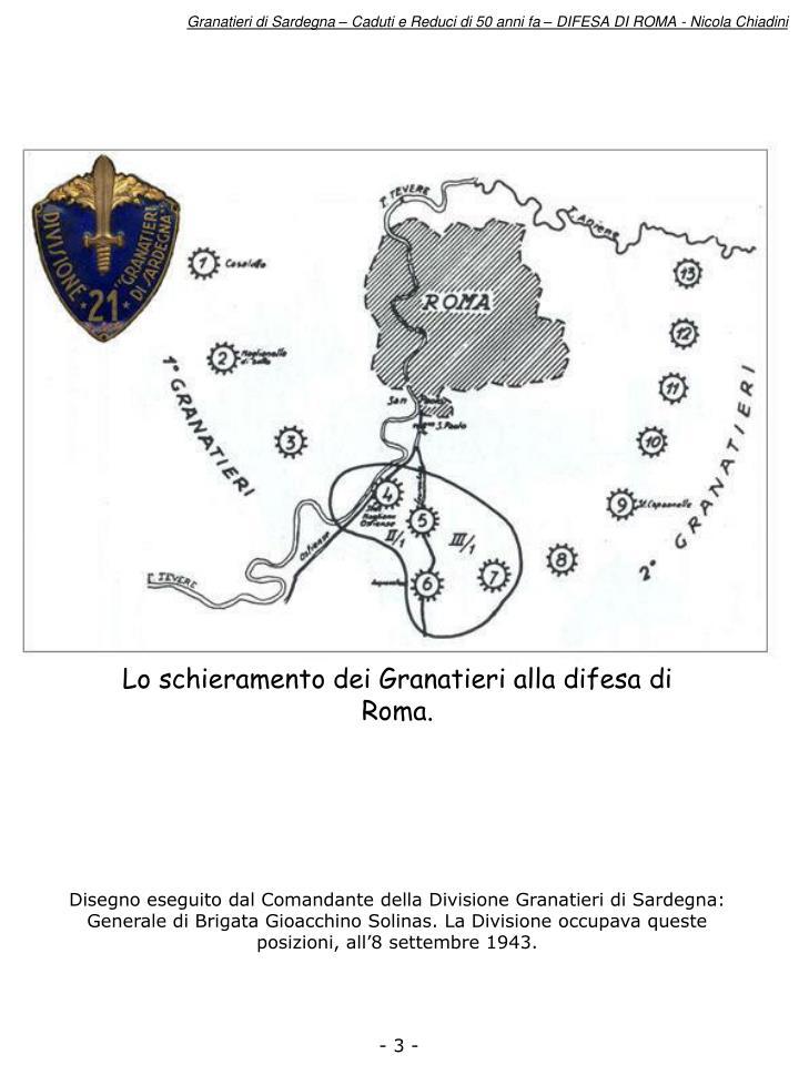 Granatieri di Sardegna – Caduti e Reduci di 50 anni fa – DIFESA DI ROMA - Nicola Chiadini