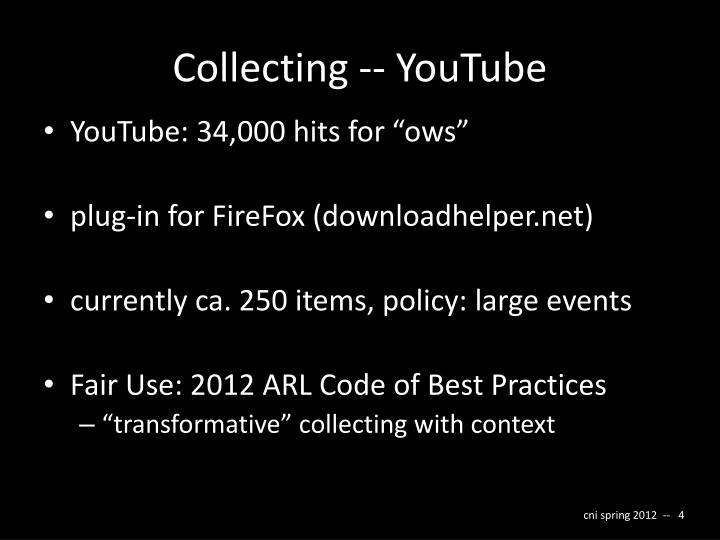 Collecting -- YouTube