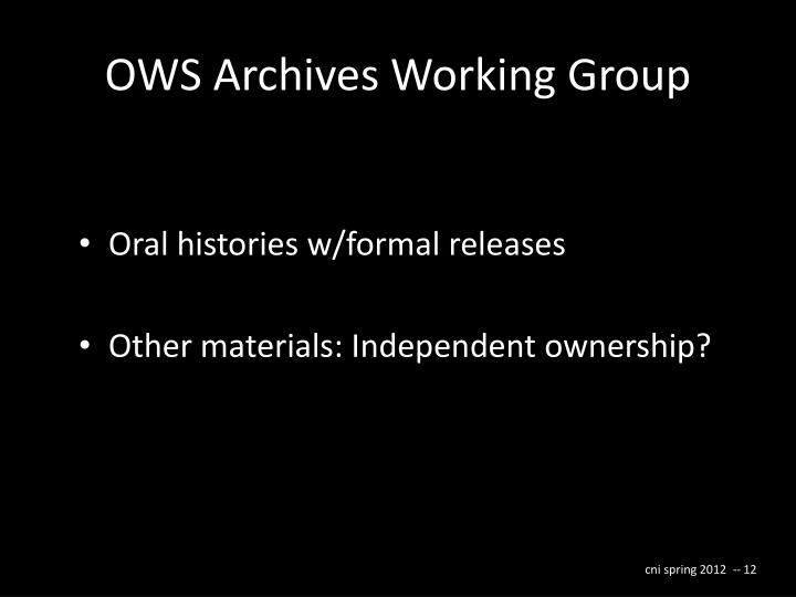 OWS Archives Working Group
