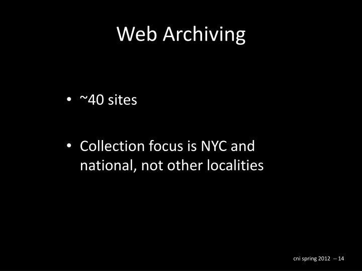 Web Archiving