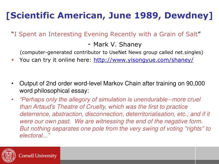 [Scientific American, June 1989, Dewdney]