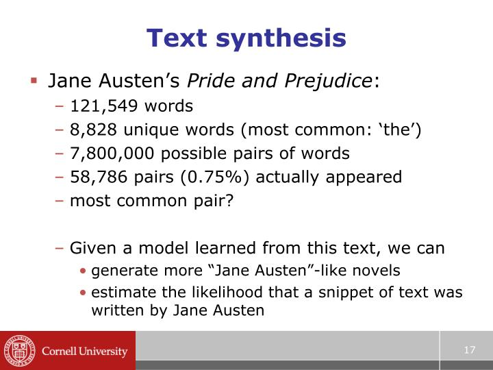Text synthesis