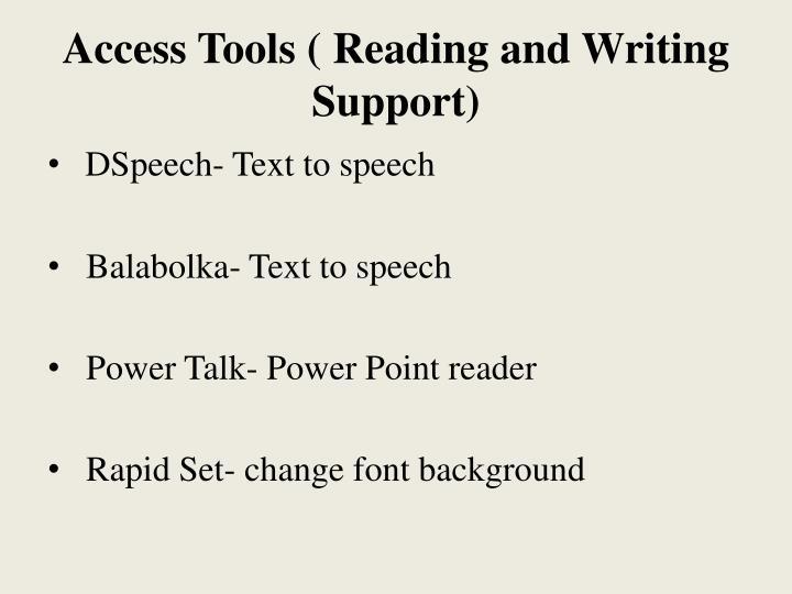 Access Tools (
