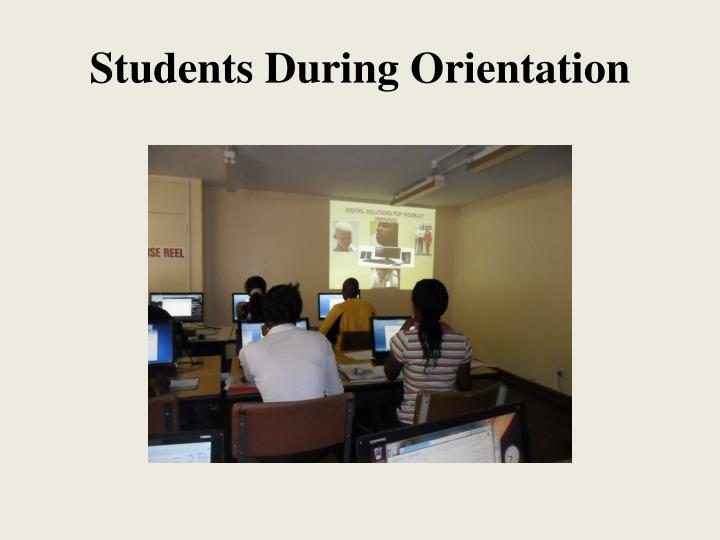Students During Orientation