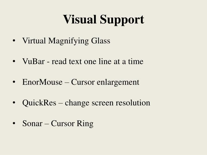 Visual Support