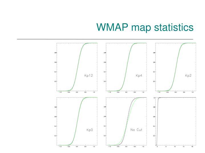 WMAP map statistics