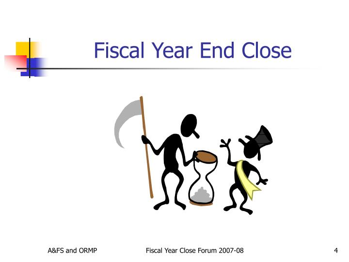 Fiscal Year End Close