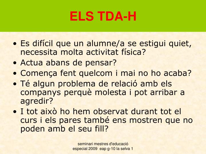 ELS TDA-H