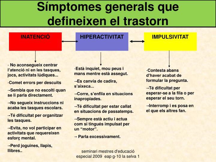 Símptomes generals que