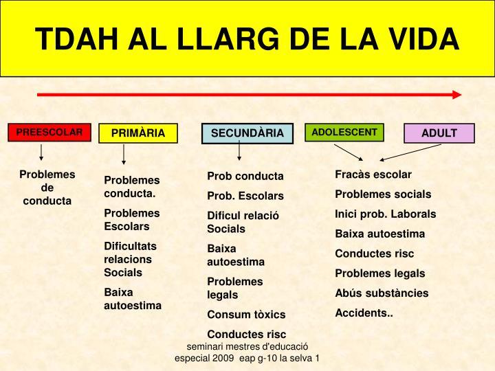 TDAH AL LLARG DE LA VIDA