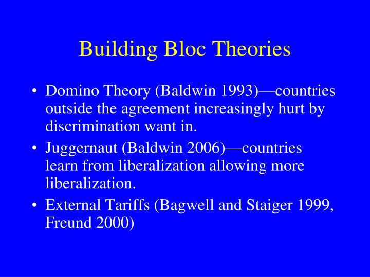 Building Bloc Theories
